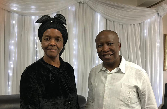 Julius Malema said the former first lady Grace Mugabe was strong, hence should be considered on anything to do with the remains of her husband.