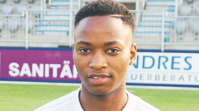 ONE FOR THE FUTURE . . . Zimbabwean footballer, Martin Zulu, has been told to keep his feet on the ground by his coach at German lower division side FC Bayern Alzenau