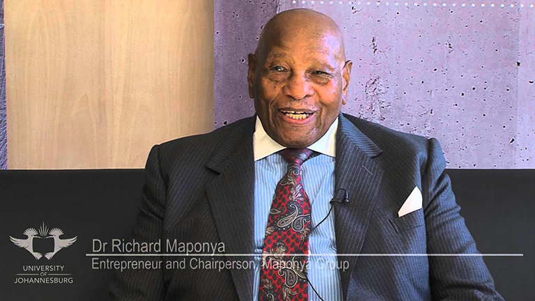 South African business pioneer Dr Richard Maponya